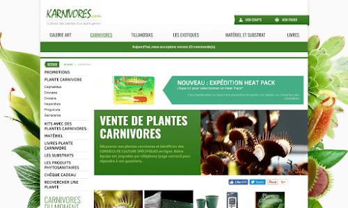 Plantes carnivores et Tillandsia en ligne