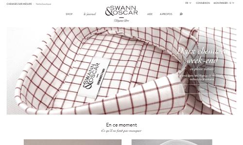 Swann & Oscar - Chemises sur mesure Mode Homme
