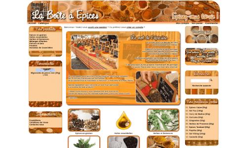 Commerce en ligne d'épices et herbes, La boite à épice Alimentation