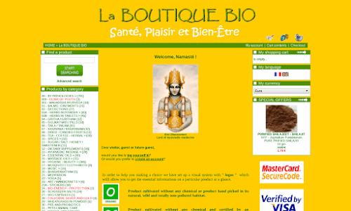 Produits AYURVEDIQUES et BIO Produit biologique