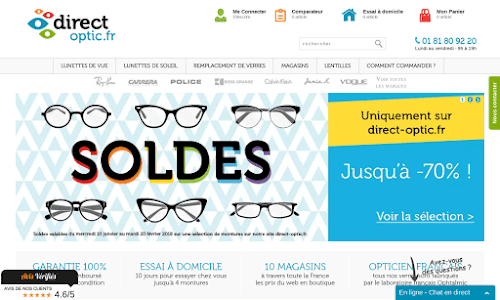 Direct Optic, votre opticien en ligne