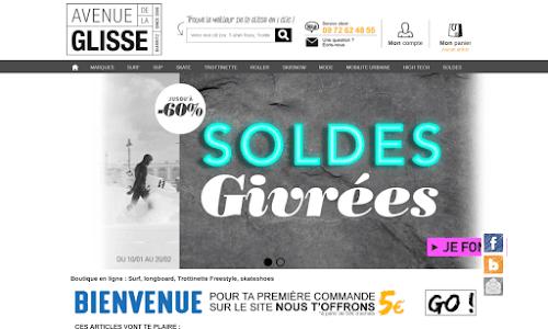 Avenuedelaglisse.com surfshop en ligne