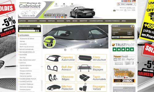 Boutique du cabriolet Accessoires auto, moto et bateau