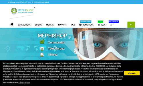 Mephishop, logiciels innovants Logiciel