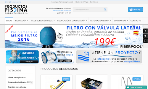 Productos piscina