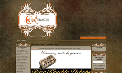 Custom Shop - accessoires pour guitare et basse Musique