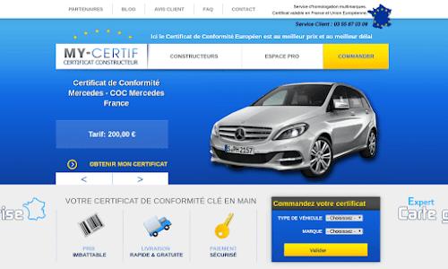 Certificat de conformité COC Auto