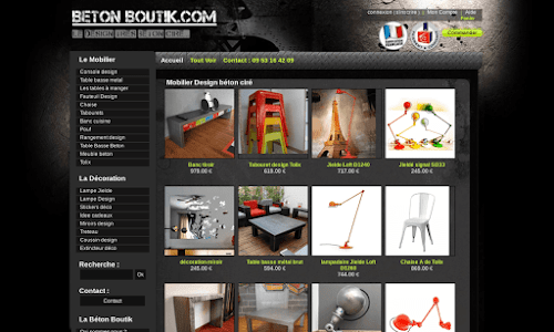Betonboutik : décoration et mobilier béton