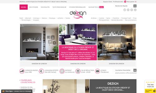 Dezign.fr, la boutique des stickers décoratifs!