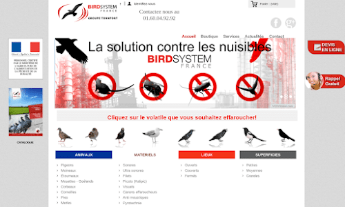 Anti-pigeons, anti-oiseaux - Solutions anti-nuisibles