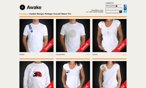 Awakeshop tee-shirt