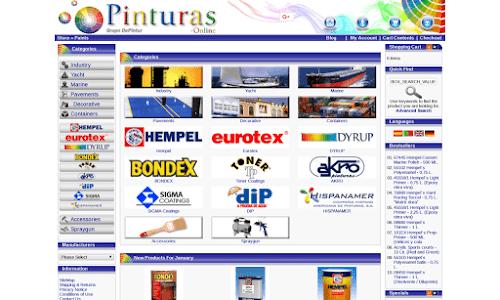Tienda Online de pinturas con catálogo de pinturas Hempel - www.pinturas-online.com