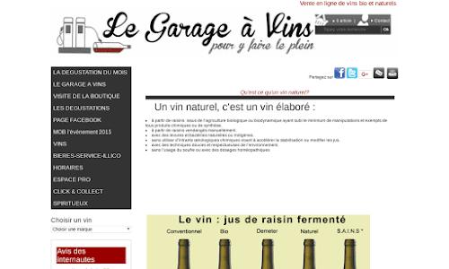 Le Garage à vins Alcool, vin et spiritueux