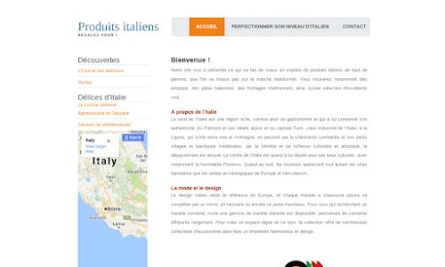 Mes produits Italiens Gastronomie
