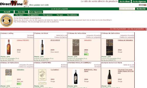 DirectWine Alcool, vin et spiritueux